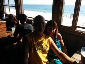 Warm weather, a beach bar, a NASCAR race with my buddy