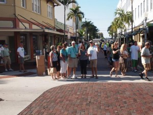 In downtown Ft Myers for St Patricks Day party