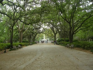 Walkway towards Forsyth Park