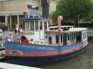 The ferry that took us across the river to the convention center