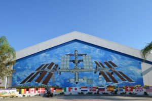 Tiled mural of International Space Station (ISS)