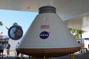 A model of the Orion command module NASA is working on for future deep space missions-eventually Mars