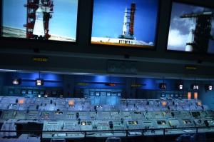 Actual control room panels/computers used in Apollo program