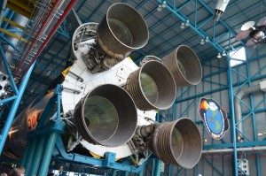 Saturn 5 rocket used to send them to the Moon - massive!