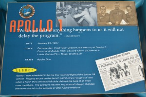 The Apollo program began in tragedy with the failure of the 1st mission - 3 deaths