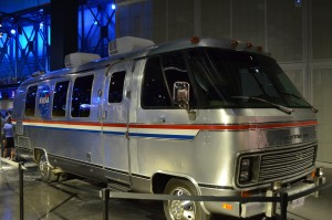 The astronauts RV for their trip to the launch pad