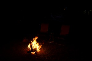 Our first campfire of 2015