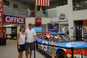 Us with a racecar model at DIS