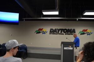 In the Driver's meeting room