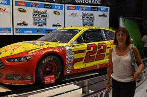 Kathy with Joey's winning car