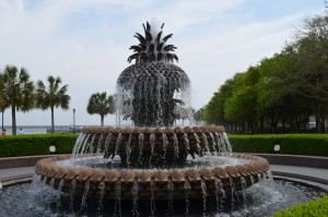 Pineapple Fountain wading pool
