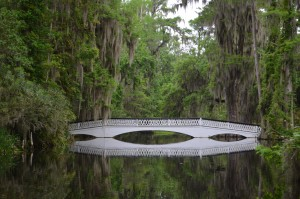 Half Moon bridge at Magnolia Plantation
